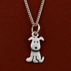 Sitting Puppy necklace