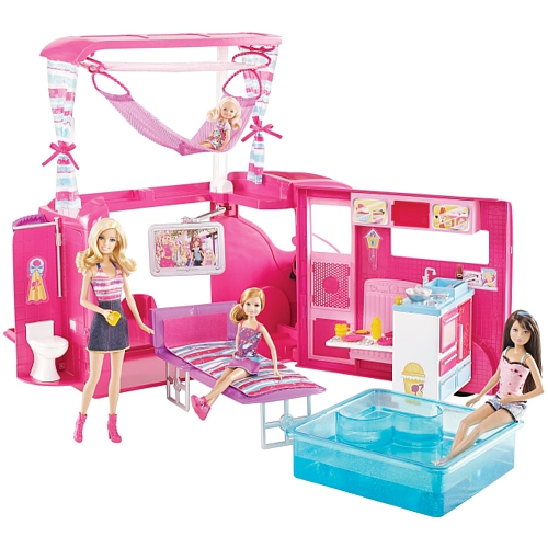 """Toys For Sisters : Barbie sisters go camping a toys""""r us exclusive"""