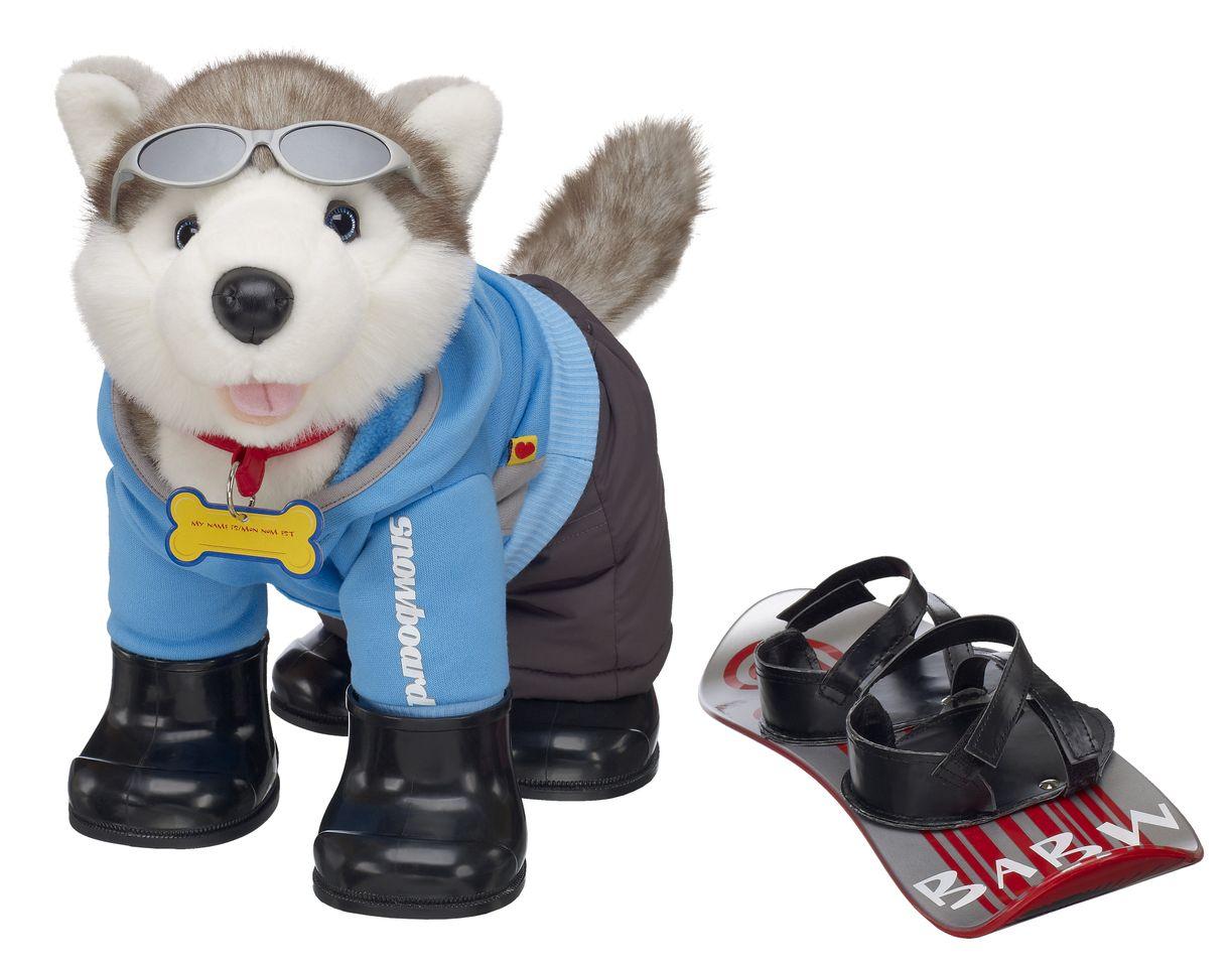 Build A Bear Christmas Husky