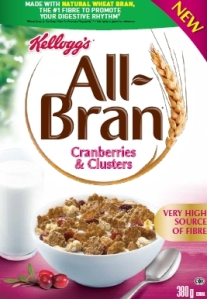 All-Bran Cranberries & Clusters cereal
