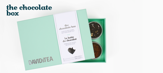 DAVIDsTEA chocolate box