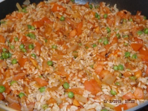 rice and pea stuffing