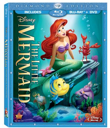 blu-ray, little mermaid, ariel, disney princess
