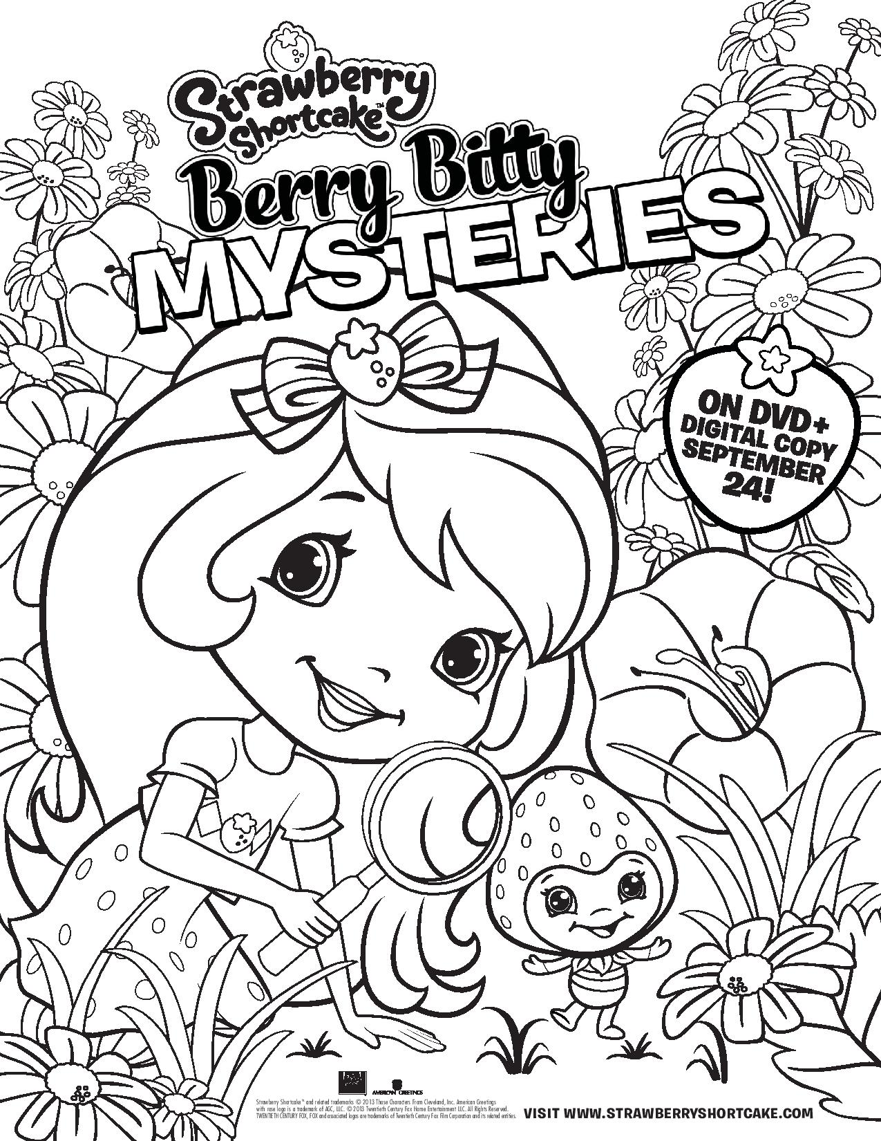 20+ Free Printable Strawberry Shortcake Coloring Pages ... | 1650x1275